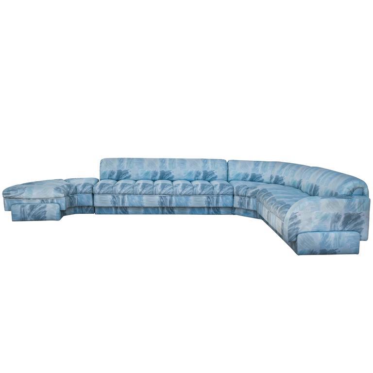 Custom Vladimir Kagan Sectional Sofa for Directional
