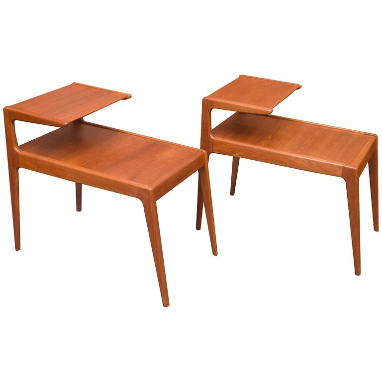 Danish Modern Teak Side Tables For Sale
