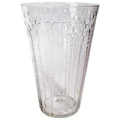 Glass Flower Vase Attributed to Hawkes