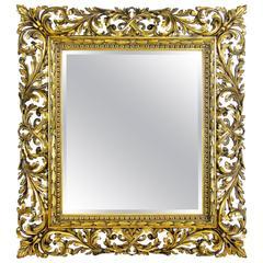 Florentine Wall Mirror Giltwood, Austria, circa 1840