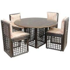 Dining Room Bamboo design Afra e Tobia Scarpa for B&B Italia Rattan Italian