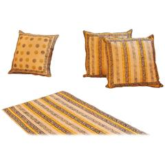 Tribal Stripped Design Ethnic Style Hand Print Cushion Pillow Cover, Qalamkar