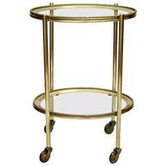 Italian 1950s Oval Brass Trolley