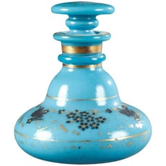 Charles X Blue Opaline Flask