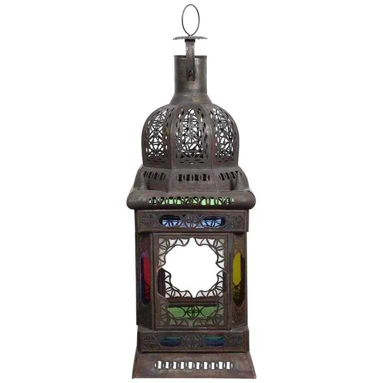Moroccan Moorish Glass Candle Lantern or Pendant