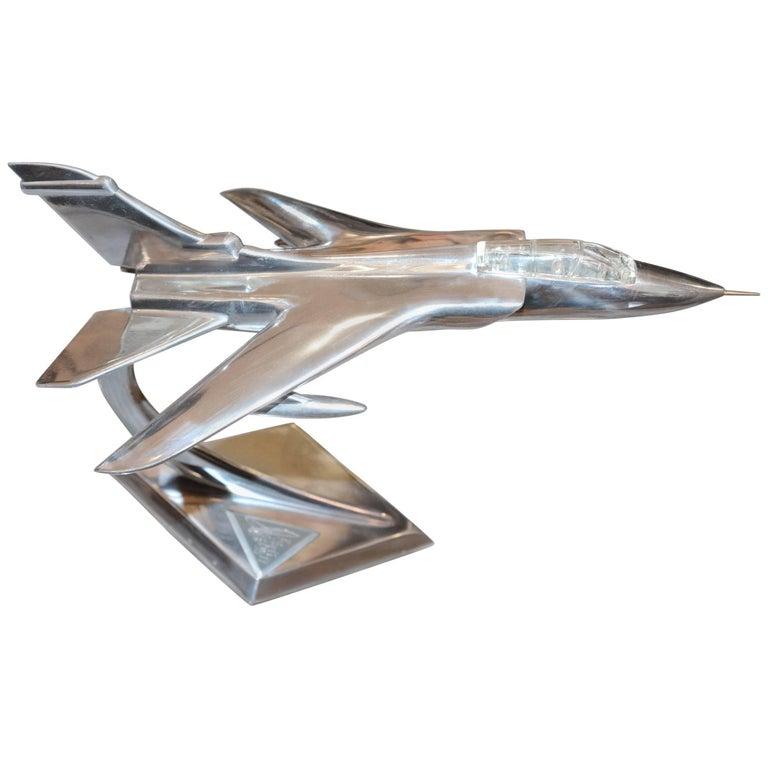 Tornado Fighter Model in Polished Aluminium, 1974 For Sale