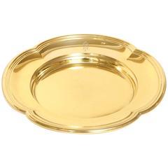 Gustave Keller Freres Silver Vermeil Plate