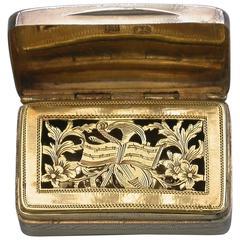 "George III Antique Silver Vinaigrette ""Musical Grille"""