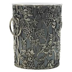Champagne Bucket with Silvered Colored Floral Decor Frame