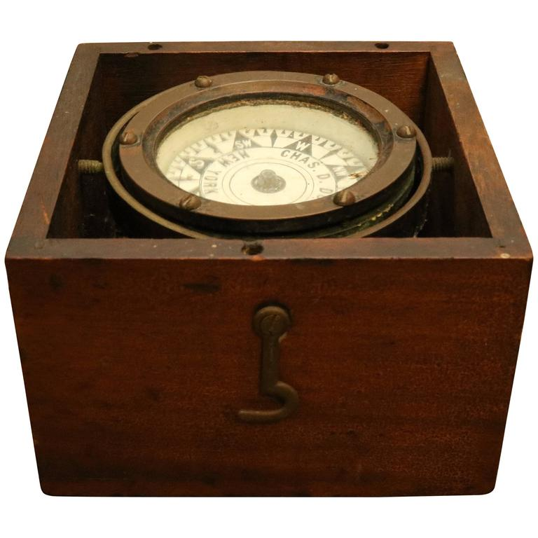 Early 1900s Boxed Compass