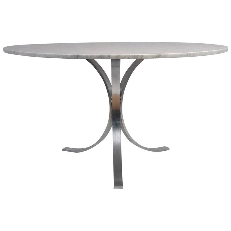 Mid-Century Chrome Dining Table