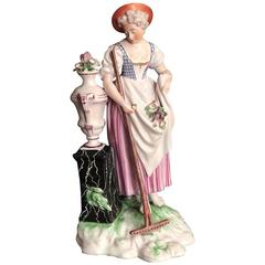 Figure of Niderviller Faience 'France' Representing a Young Woman, 18th Century