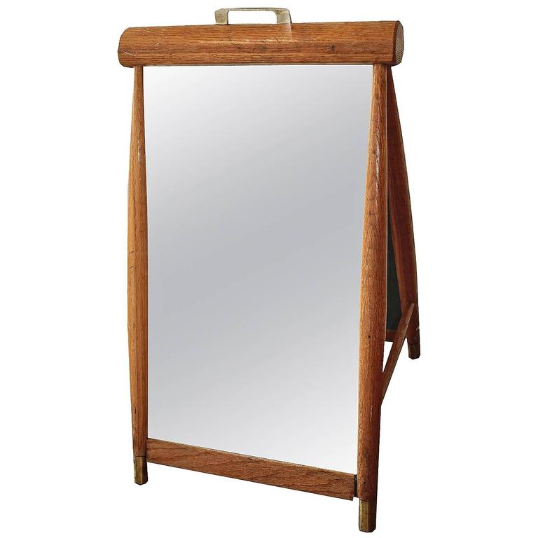 Two Sided Vintage Oak Shoe Mirror At 1stdibs