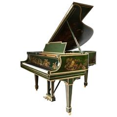 """THE ""GREEN CHI"" STEINWAY Chinoiserie Style Art Case Model M Grand Piano"