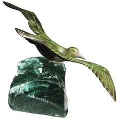 Art Deco Bronze Sculpture of a Seagull by Georges Laurent