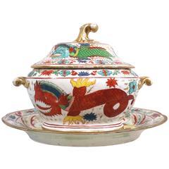 Rare Copeland Porcelain Covered Sauce Tureen, circa 1800