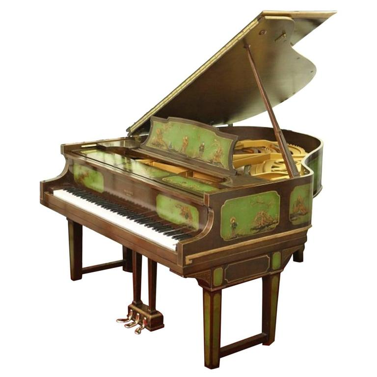 Art Case Piano Chinoiserie Style Hand Painted Masterpiece by Weber 1