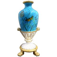 Rare Royal Worcester Aesthetic Porcelain Vase, 19th century