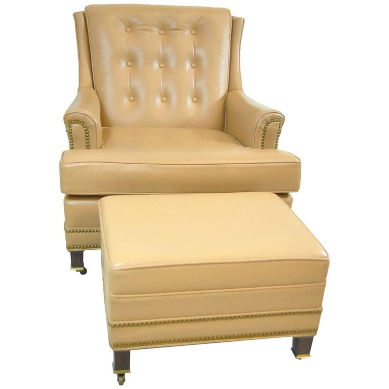 Remarkable Hancock And Moore Tan Leather Club Chair And Ottoman With Creativecarmelina Interior Chair Design Creativecarmelinacom