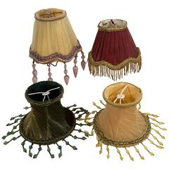 Group of 12 Victorian Style Silk Lamp Shades