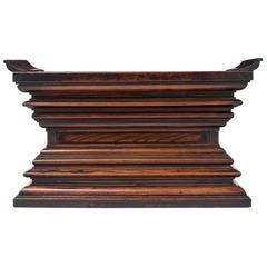 Japanese Pawlonia and Keyaki Wood Altar, Edo Period