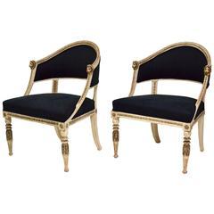 Pair of Late Gustavian Tub Chairs, circa 1800