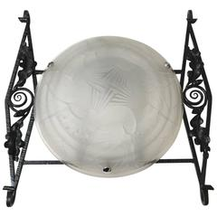 Large French Art Deco Sconce