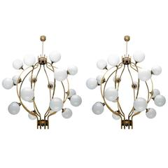 Cage Style Globes Chandeliers