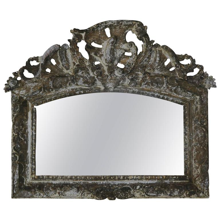 19th Century Italian Giltwood Mirror For Sale
