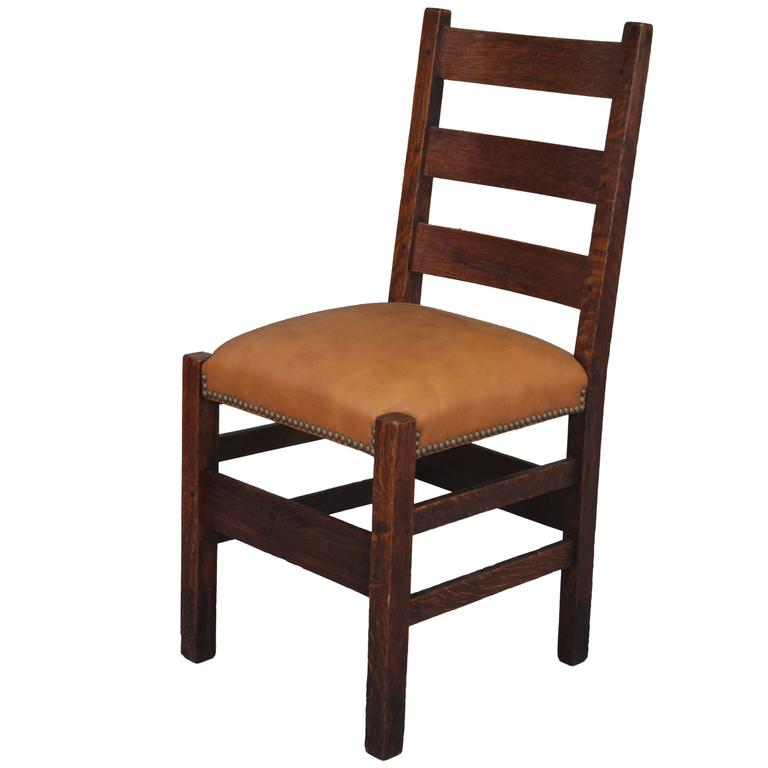 1910 Arts And Crafts Chair Ladder Back Side Chair For Sale