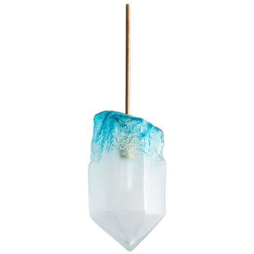 Illuminated Handblown Crystal Pendant by Jeff Zimmerman
