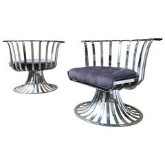 Pair of Woodard Aluminium Spoke Chairs