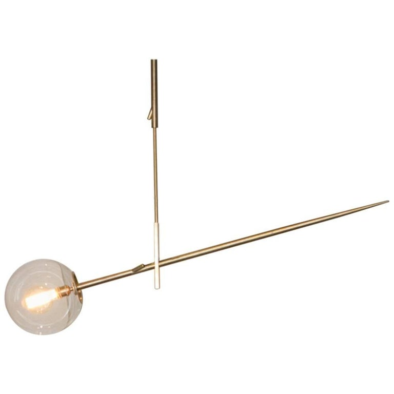 Hasta Brass Hanging Lamp, Jan Garncarek For Sale