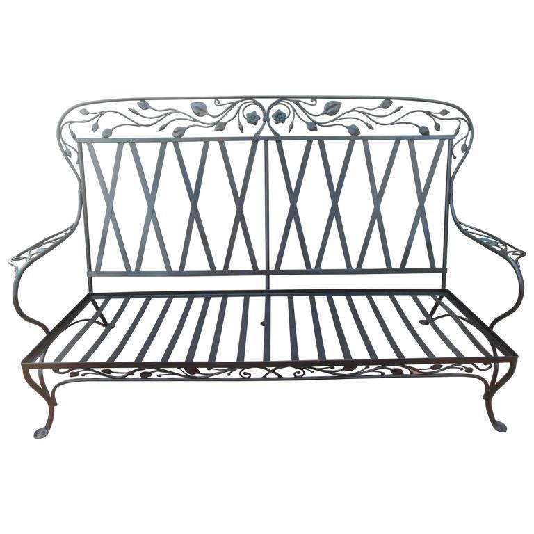 Salterini Vintage Wrought Iron Elaborate Sofa