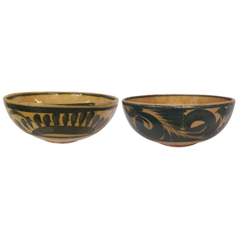 Two 20th Century, Mexican Pottery Bowls