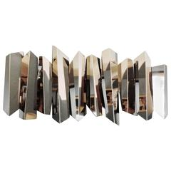 Large and Scenographic Sculptural Wall Light by Mario Torregiani
