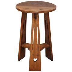 Oak Arts and Crafts Circular Table