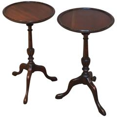 Matched Pair of Mahogany Wine Tables