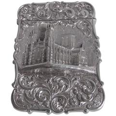Very Rare Castle Top Card Case, York Minster, Made by Nathaniel Mills