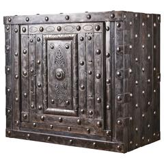 19th Century Italian Hobnail Antique Safe