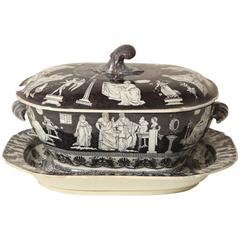 Early 19th Century English, Spode, Soup Tureen with Underliner, circa 1820