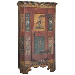 Superb 19th Century Hand-Painted Italian Armoire