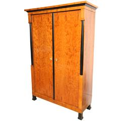 Superb 19th Century Satinwood Biedermeier Armoire