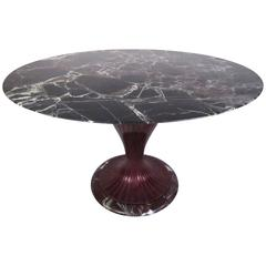 Stylish Vintage Marble Top Pedestal Table