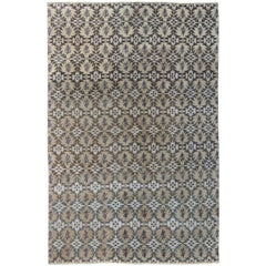 Mid-Century Modern Rug with a repeating All Over Design
