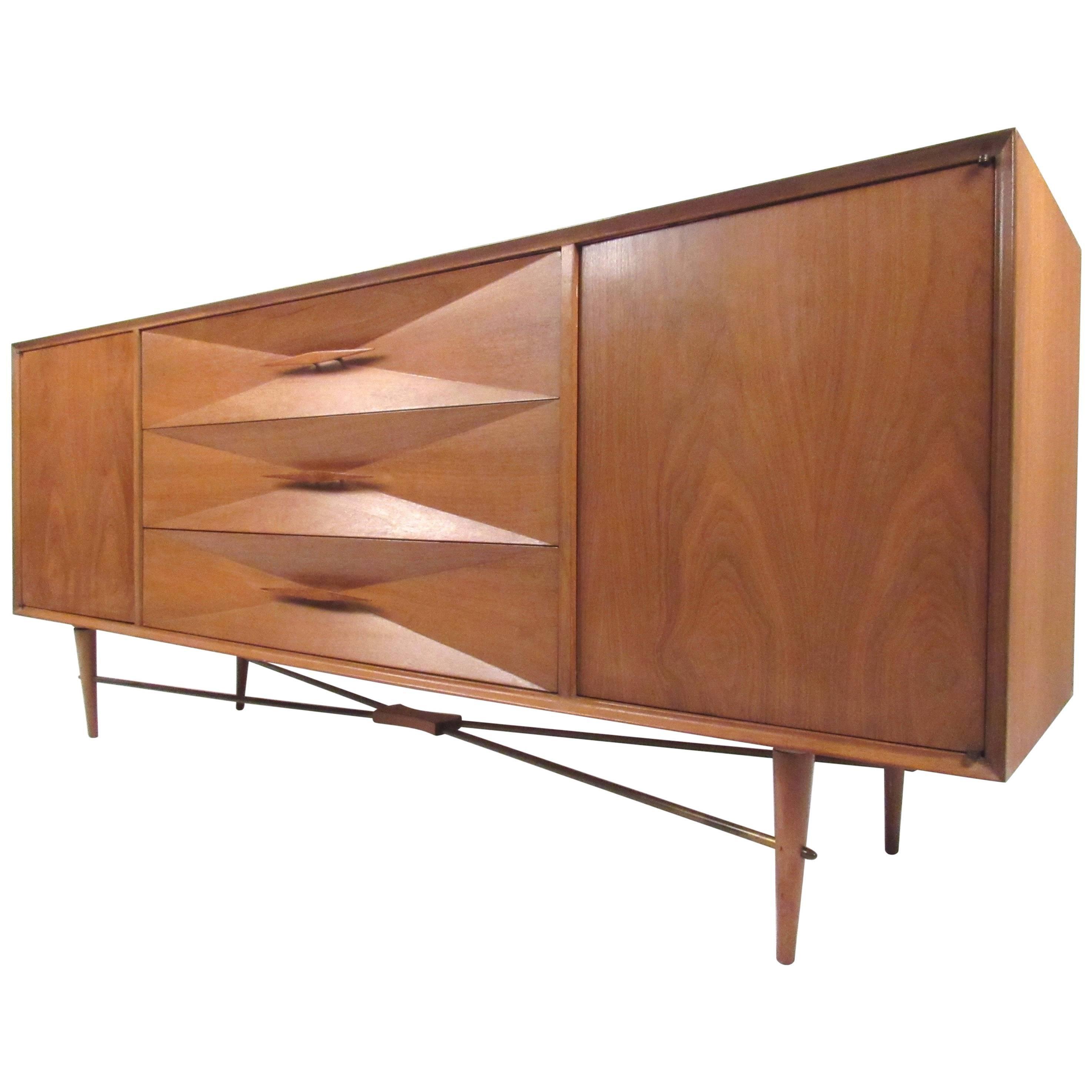 Vintage Diamond Front Dresser attr. to Albert Parvin