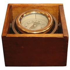 Brass Box Compass by Wilcox Crittenden