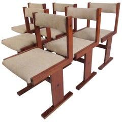 Set of Six Vintage Scandinavian Modern Teak Dining Chairs