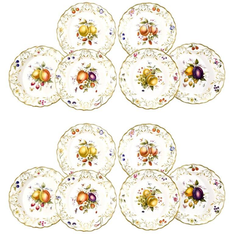 Royal Worcester Hand Painted Gilded Dessert Service for Asprey\'s-17 ...