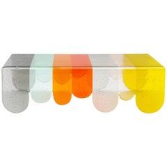 Lunapark Colored Murano Glass Coffee Table